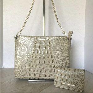 Brahmin Bella Crossbody Bag & Mini Wallet Set
